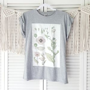 ASOS gray floral graphic tee 12